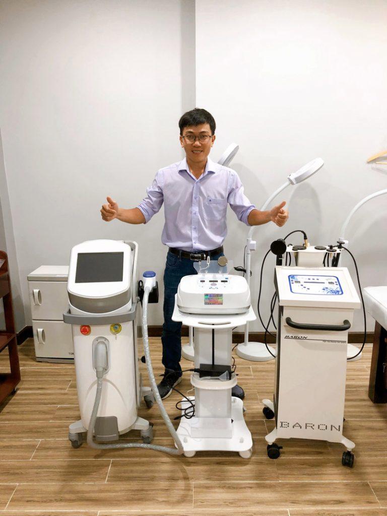 Chuyển giao công nghệ máy RF Baron chính hãng cho khách hàng