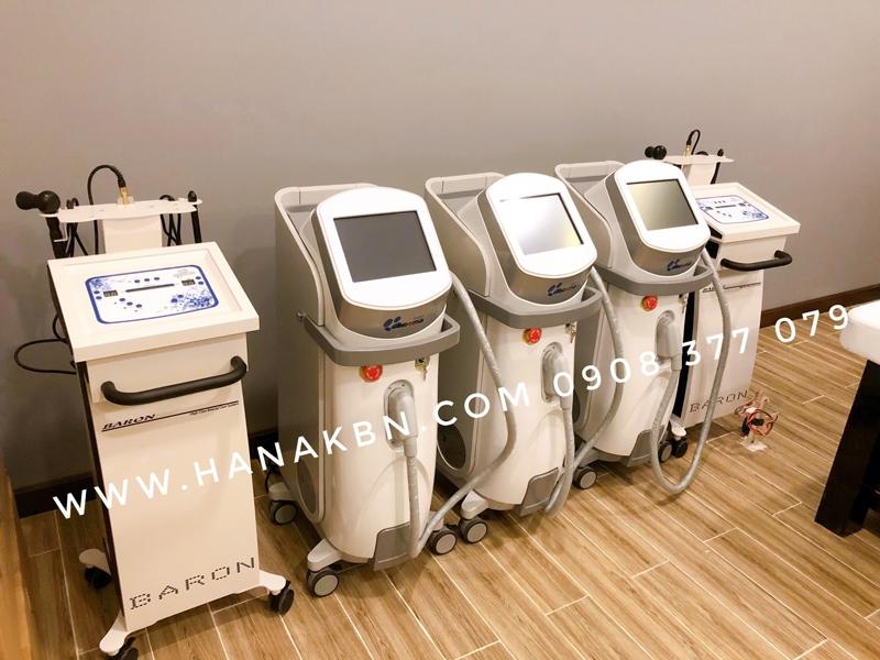 Hình ảnh máy triệt lông Diode Aroma-Hàn Quốc công ty HanaKBN giao cho khách hàng spa