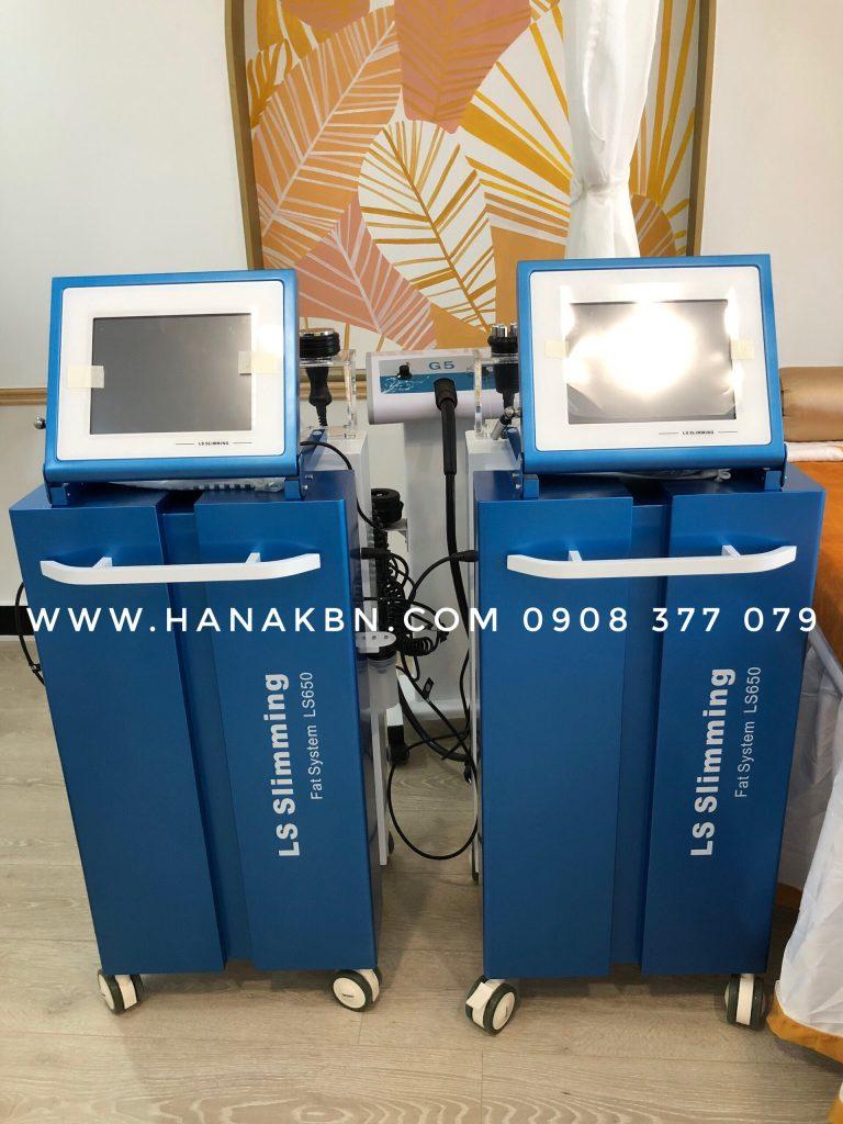 Hình ảnh máy giảm béo LS650 chuyển giao cho khách hàng spa