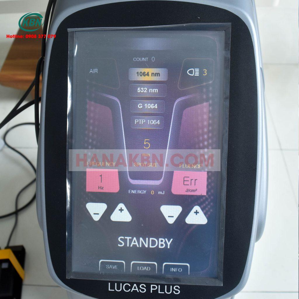 Hình ảnh giao diện máy Laser Q-switched Lucas Plus-Hàn Quốc