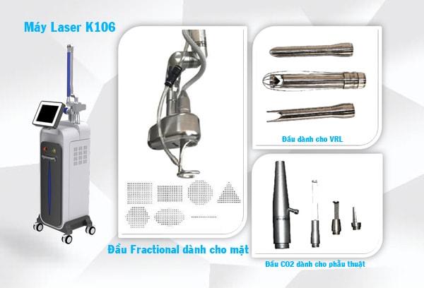 Hình ảnh đầu điều trị và cắt đốt máy laser CO2 fractional K106