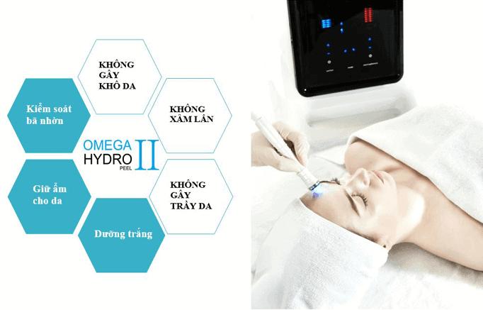 Máy Omega Hydro Peel 2 công nghệ chăm sóc da chuyên nghiệp