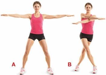 giảm mỡ bắp tay bằng động tác cắt kéo