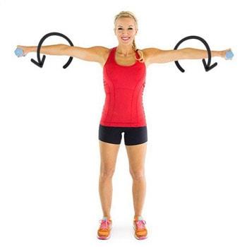 giảm béo bắp tay bằng động tác xoay tay