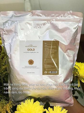 phục hồi da cháy nắng bằng bột mặt nạ gold 24k