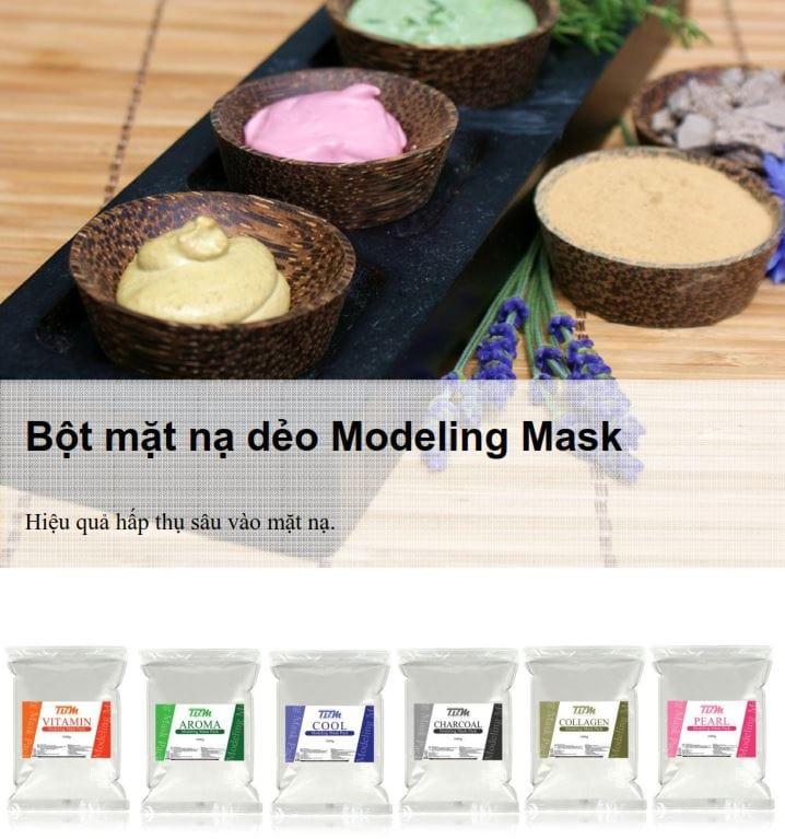 mặt nạ bột dẻo tbm modeling mask