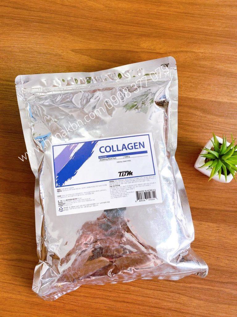 Hình ảnh thực tế bột mặt nạ Collagen tại công ty HanaKBN