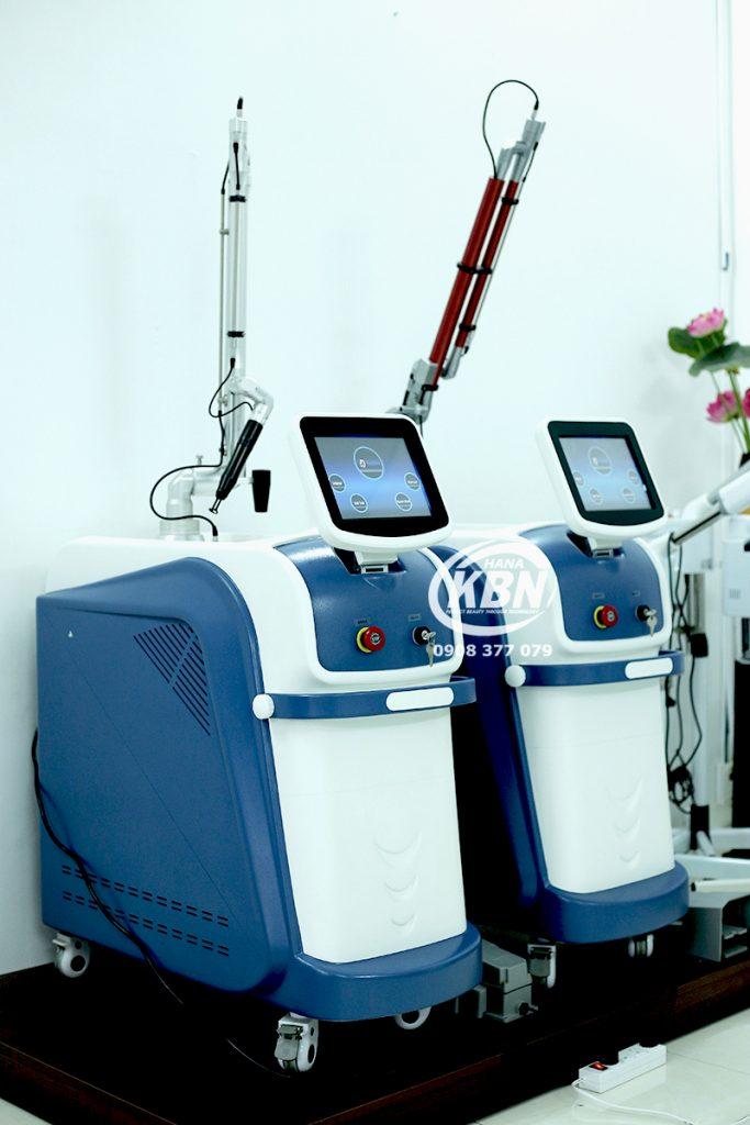 Hình ảnh máy laser Q-Switched chính hãng tại công ty HanaKBN