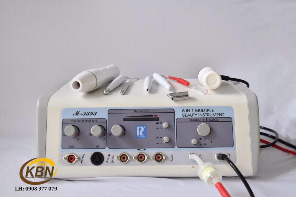 Hình ảnh máy chăm sóc da 5in1 sử dụng đầu Gavanic dẫn tinh chất vitaC chính hãng