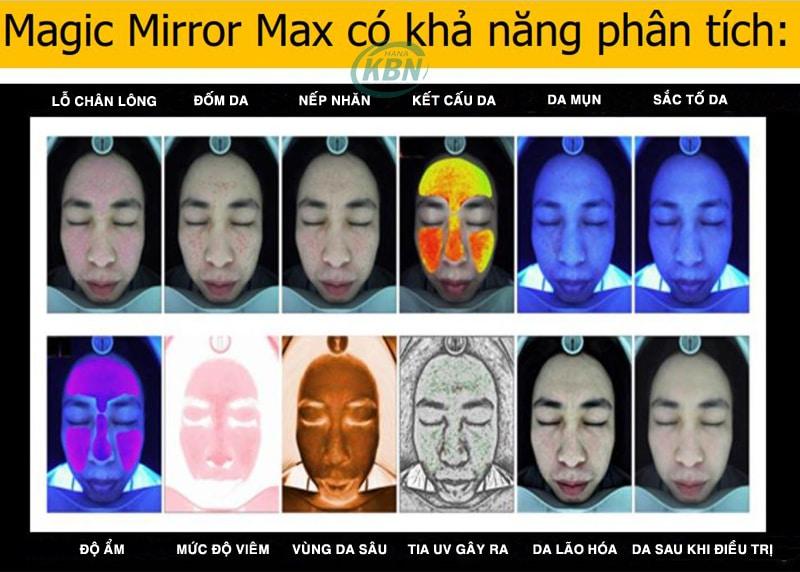 Hình ảnh sắc nét và chính xác khi phân tích da của máy smart miror pro