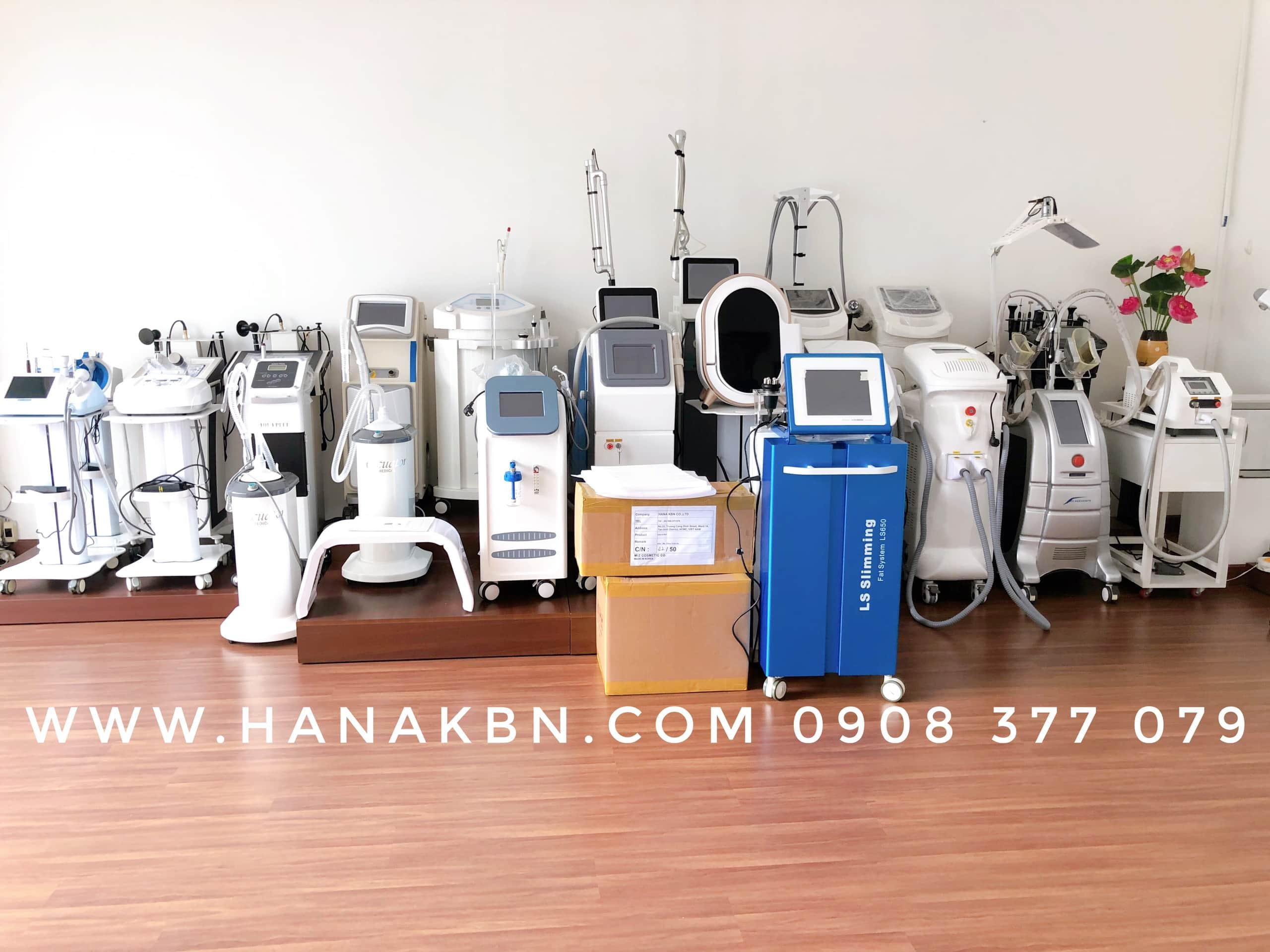 Hình ảnh thiết bị spa chính hãng tại công ty Hana Kim Bách Nguyên