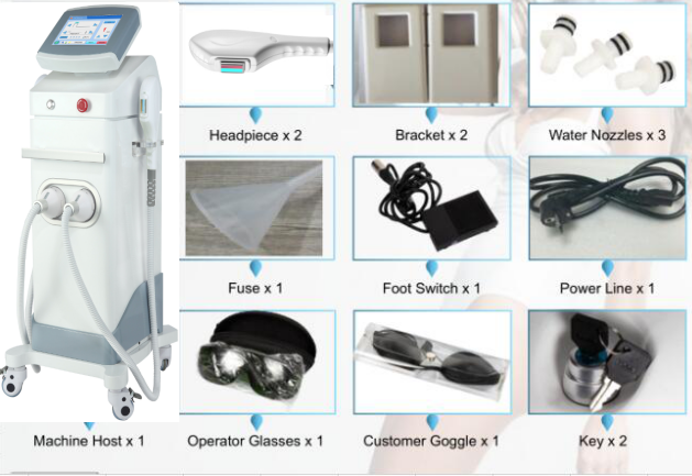 Hình ảnh chi tiết linh kiện máy triệt lông OPT Doctor Light