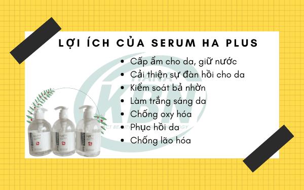 Serum HA Plus cải thiện làn da có nên mua không?