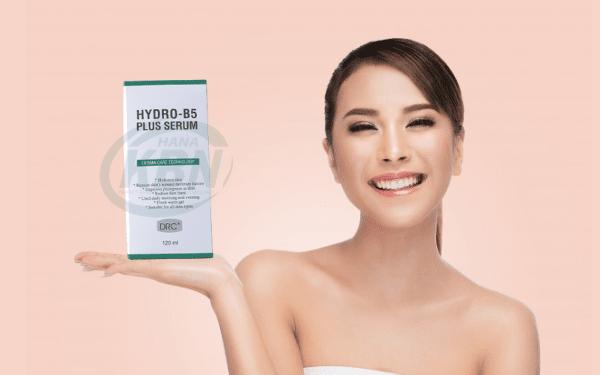 Serum Hydro B5 Plus với 2 thành phần chính là Sodium Hyaluronate và Vitamin B5