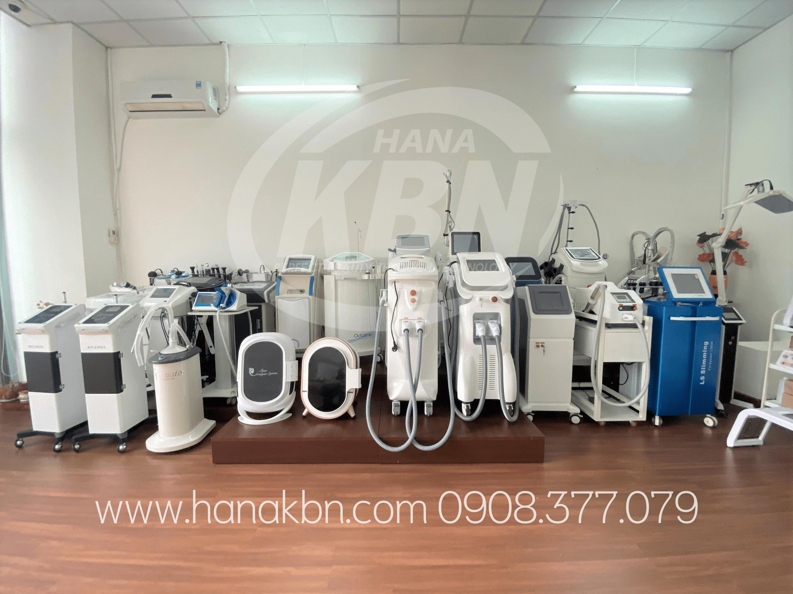 Hình ảnh thật các thiết bị spa tại Hana Kim Bách Nguyên