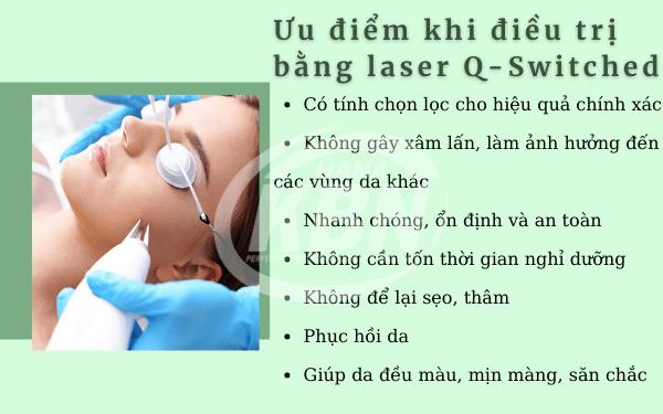 Ưu điểm khi điều trị bằng laser Q-Switched
