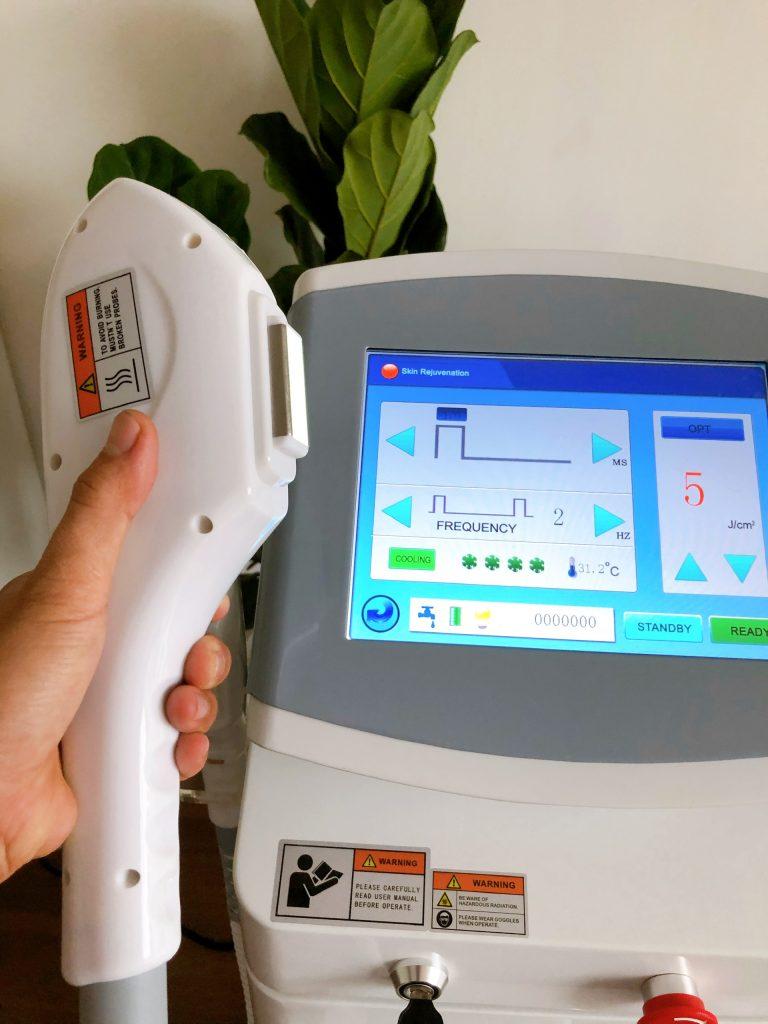 Hình ảnh giao diện máy triệt lông OPT Super Doctor chính hãng