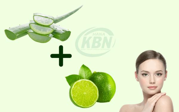 Nha đam và chanh là 2 thành phần có công dụng rất tốt cho làn da bị nhờn và mụn