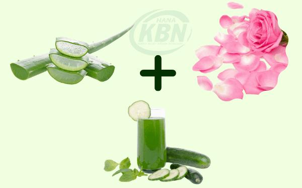 Nha đam, nước hoa hồng và dưa chuột ngăn ngừa viêm nhiễm, trị mụn an toàn