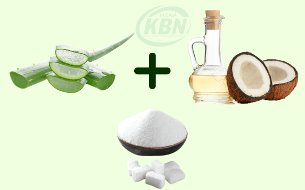 Nha đam, dầu dừa và đường - hỗn hợp tẩy tế bào chết hiệu quả, an toàn