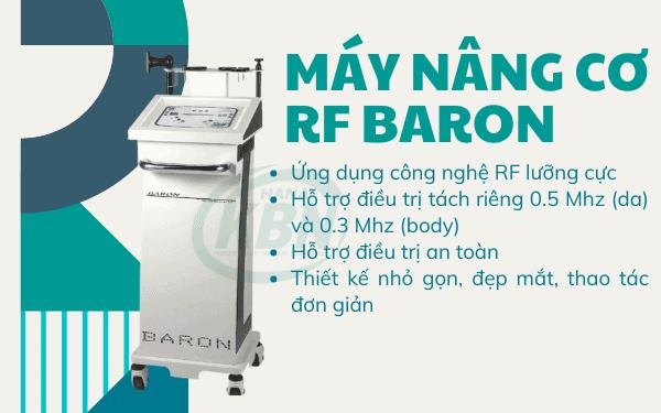 Máy nâng cơ RF Baron ứng dụng công nghệ lưỡng cực RF làm săn chắc và cải thiện độ đàn hồi cho da