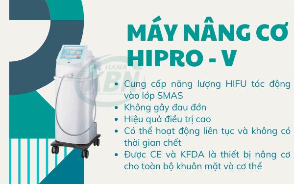 Máy nâng cơ Hipro - V sử dụng hệ thống siêu tập trung cường độ cao tác động vào lớp SMAS