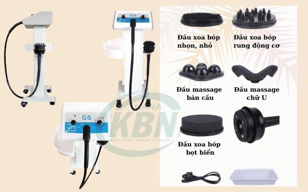 Đầm rung giảm béo G5 và các đầu massage