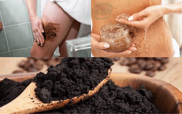 Bả cà phê giúp loại bỏ lớp da chết và kích thích lưu thông máu, đào thải lượng mỡ trong cơ thể