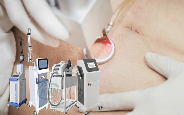 Các dòng máy laser thường dùng trị rạn da tại spa, thẩm mỹ gồm có bóc tách co2 và không bóc tách yag