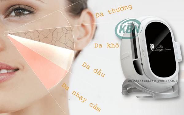 Máy soi phân tích da là thiết bị spa cần thiết giúp soi và đưa ra phác đồ điều trị cho từng khách hàng