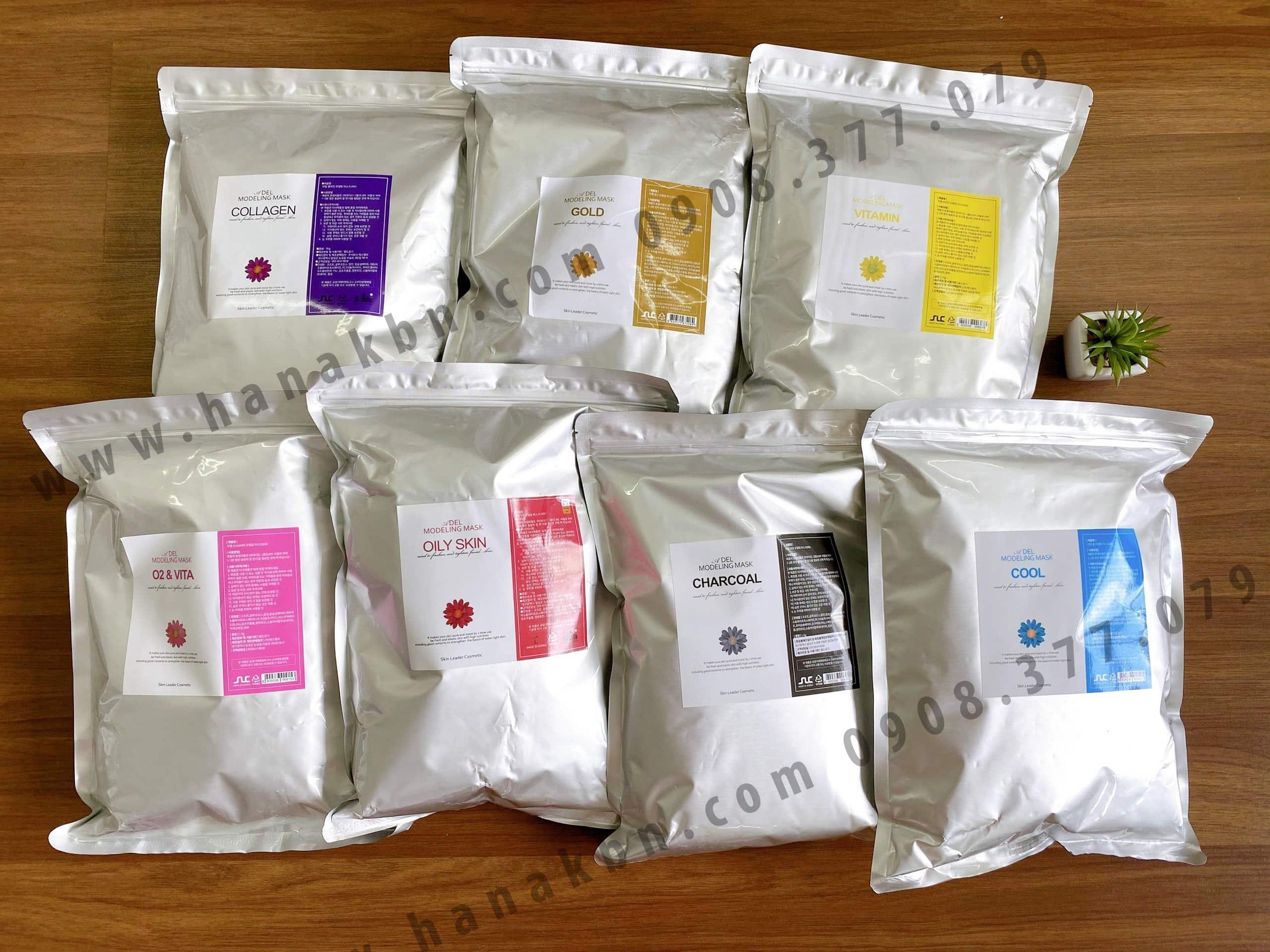 Hình ảnh các loại bột mặt nạ Hàn Quốc dưỡng da