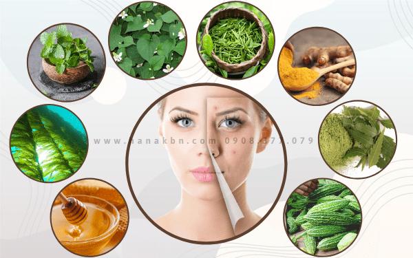 Các dưỡng chất tự nhiên chống viêm, trị mụn